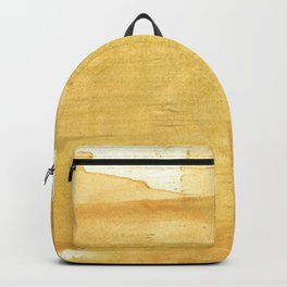 Sandy brown abstract wash painting Backpack