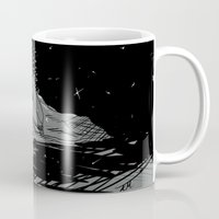 astronomy Mugs featuring Astronomy Jim by Allie Morris