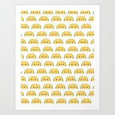 Happy Tacos Art Print