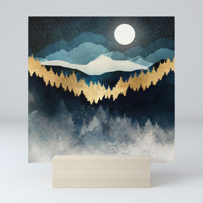 Indigo Night Mini Art Print