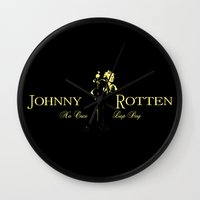 whisky Wall Clocks featuring Rotten Whisky by PsychoBudgie