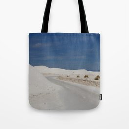 White Sand Reaches Up To The Horizon Tote Bag