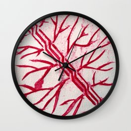 Growth red Wall Clock
