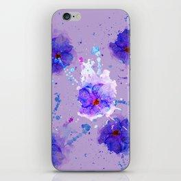Violet Watercolor Flower iPhone Skin