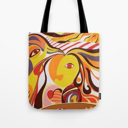 Cubism Picasso Colourful Bright Abstract Realism Figurative Portrait Conceptual Tote Bag