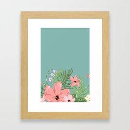 Turquoise Flower Framed Art Print