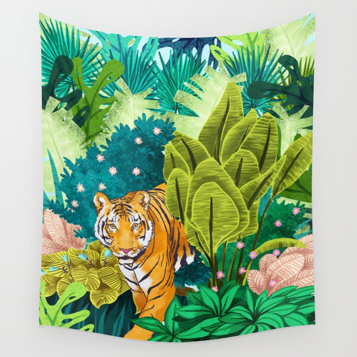 Jungle Tiger Wall Tapestry