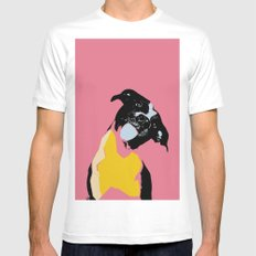 Expressive dog portrait modern art print Mens Fitted Tee MEDIUM White