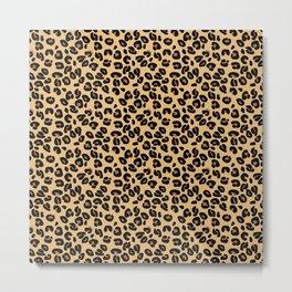 Classic Black and Yellow / Brown Leopard Spots Animal Print Pattern Metal Print