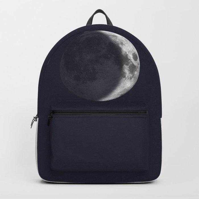 Waxing Crescent Moon on Navy - English Backpack