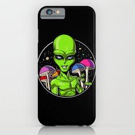 Alien Magic Mushrooms iPhone Case