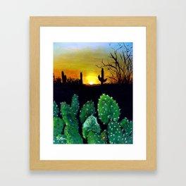 Landscape Painting - Desert Sunset Framed Art Print