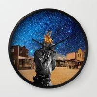 western Wall Clocks featuring Western by Cs025