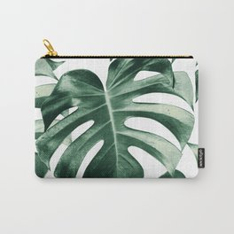 Tropical Monstera Leaves Dream #2 #tropical #decor #art #society6 Carry-All Pouch