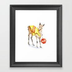 Traffic Controller Deer in High Visibility Vest Framed Art Print