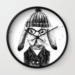 Hiphop Beanie Bunny Top Wall Clock