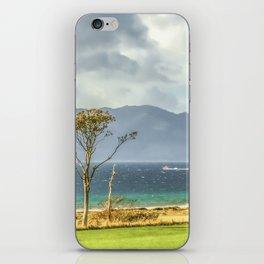 Isle of Arran from Portencross Ayrshire (2) iPhone Skin