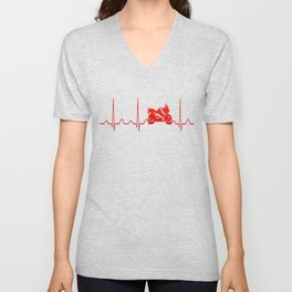 MOTORBIKE HEARTBEAT Unisex V-Neck