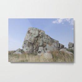 Big Rock Okotoks Metal Print