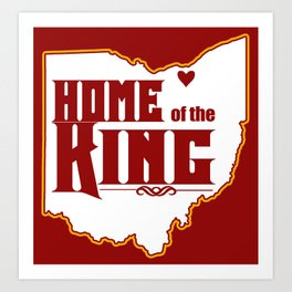 Home of the King (Red) Art Print