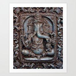 Ganesh Murti Art Print