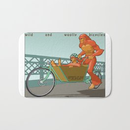 Sasquatch: Wild and Woolly Bicycles Bath Mat