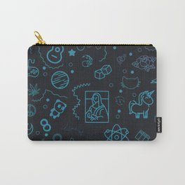 Colored Pattern Carry-All Pouch