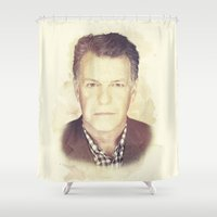 fringe Shower Curtains featuring FRINGE - WALTER by theseed30