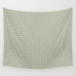 Lines (Linen Sage) Wall Tapestry
