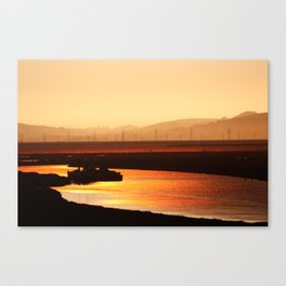 River on Fire Canvas Print