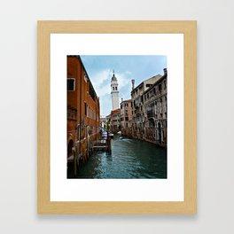 Leaning Venice Framed Art Print
