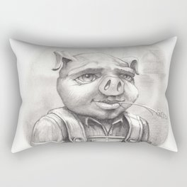 Mr. Attldoo Pig lll Rectangular Pillow