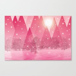 Magic winter pink Canvas Print
