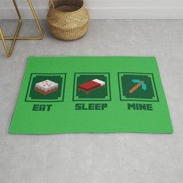 Eat, Sleep, Mine Rug