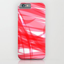 Red and smooth sparkling lines of pink ribbons on the theme of space and abstraction. iPhone Case