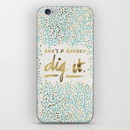 Dig It – Gold & Turquoise iPhone Skin