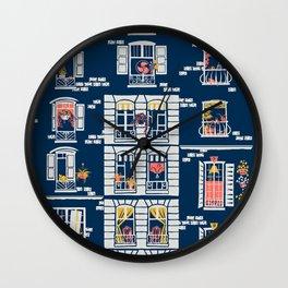 Paris Windows Art Wall Clock