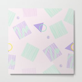 Geometric objects in pastels Metal Print