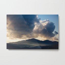 Sunset light over Rivello Metal Print
