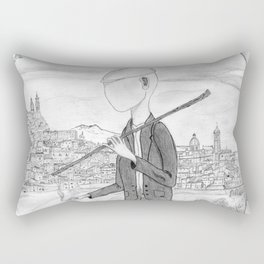 Tramp in search of identity Rectangular Pillow