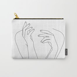 Woman's body line drawing illustration - Dee Carry-All Pouch
