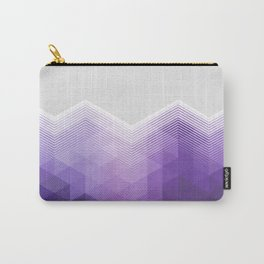 ULTRA VIOLET TRIANGLE CHEVRON DESIGN Carry-All Pouch