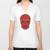 horror V-neck T-shirts featuring horror by creaziz