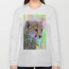 Aqua_Cheetah_20180102_by_JAMColorsSpecial Long Sleeve T-shirt