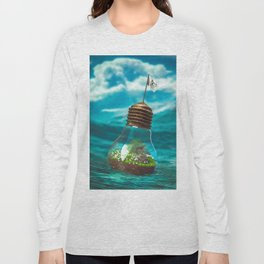 Captain Snuggles and The Lightboat Long Sleeve T-shirt