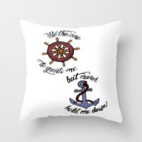 larry stylinson Throw Pillows featuring Helm and Anchor. (Larry Stylinson) by Arabella