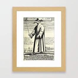 Dr. Beak - a plague doctor in 17th-century Rome Framed Art Print