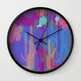 Purple Oasis Wall Clock