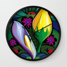 Swamp Flowers (Poster Dimensions) Wall Clock