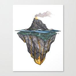 Salt + Fire Canvas Print